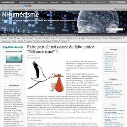 """11 – Faire part de naissance du labo junior """"NHumérisme"""""""