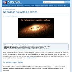 Naissance du système solaire