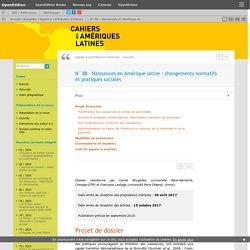 N°88– Naissances en Amérique latine: changements normatifs et pratiques sociales