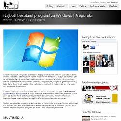 Najbolji besplatni programi za Windows