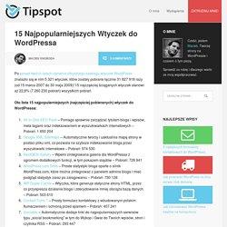 15 Najpopularniejszych Wtyczek do WordPressa