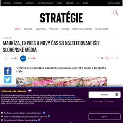 Markíza, Expres a Nový čas sú najsledovanejšie slovenské médiá