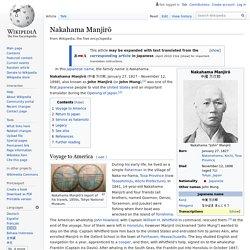 Nakahama Manjirō