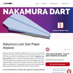 Nakamura Lock dart paper airplane