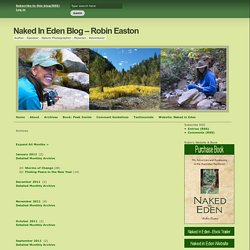 Naked In Eden Blog – Robin Easton » Archives