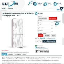 Naklejka lub mata magnetyczna na lodówkę - Fale płynące w dół - 007 - - sklep.blueorb.pl
