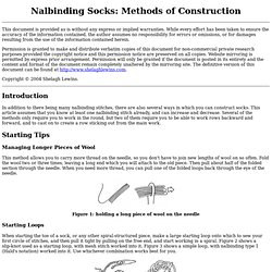 Nalbinding Socks: Methods of Construction
