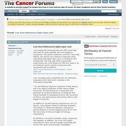 Low dose Naltrexone/alpha lipoic acid - Complementary Therapies - Cancer Forums