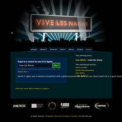 Name in Lights: Vive Les Nanas » Home