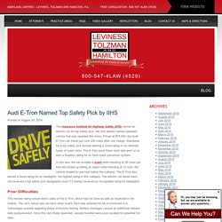 Audi E-Tron Named Top Safety Pick by IIHS