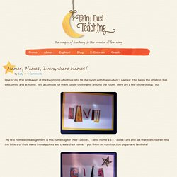 Names, Names, Everywhere Names! - Fairy Dust Teaching