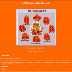 108 Names of Lord Ganesha and the meanings