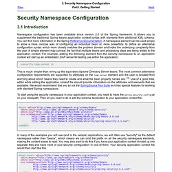 3. Security Namespace Configuration