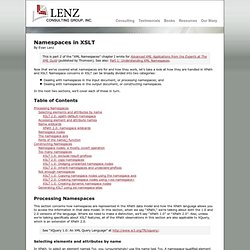 Namespaces in XSLT — Lenz Consulting Group, Inc.