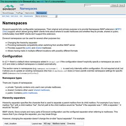 Namespaces - Dovecot Wiki