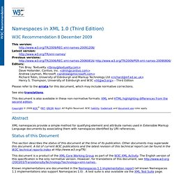 Namespaces in XML 1.0 (Third Edition)