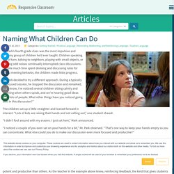 Naming What Children Can Do