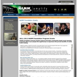 NAMM Foundation Grants
