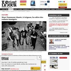 Marc Nammour chante, à Avignon, la colère des enfants immigrés - Aline GEMAYEL (à Avignon)