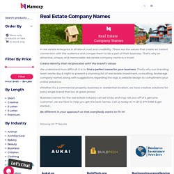 Namoxy.com: Find 100+ Real Estate Company Names Ideas Online