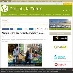 Namur lance une nouvelle monnaie locale