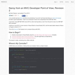 Nancy from an MVC Developer Point of View, Revision 2