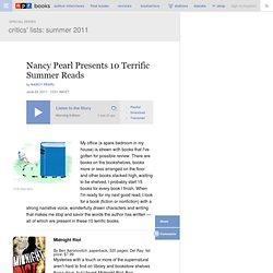 Nancy Pearl Presents 10 Terrific Summer Reads