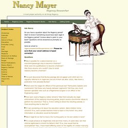 Nancy Regency Researcher