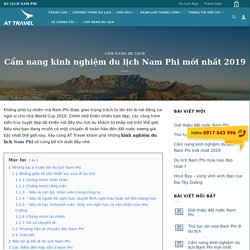 Cẩm nang kinh nghiệm du lịch Nam Phi mới nhất 2019 - Tour nam phi