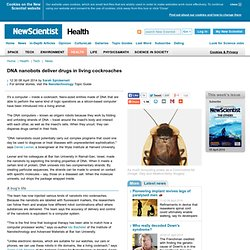 DNA nanobots deliver drugs in living cockroaches - health - 08 April 2014