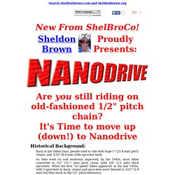 Nanodrive Bicycle Chain Drive System