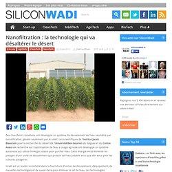 Nanofiltration : la technologie qui va désaltérer le désert