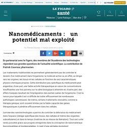 Nanomédicaments:  un potentiel mal exploité