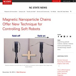 Magnetic Nanoparticle Chains Offer New Technique for Controlling Soft Robots