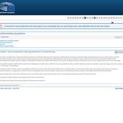 PARLEMENT EUROPEEN - Réponse à question E-003977-18 Silver nanoparticles replacing antibiotics in chicken-farming