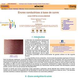Encre conductrice, cuivre, nanoparticule, électronique imprimée, RFID, OLED, batterie, pile