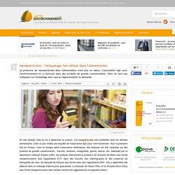 ACTU ENVIRONNEMENT 17/06/16 Nanoparticules : l'étiquetage fait défaut dans l'alimentation