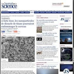 A forte dose, les nanoparticules de dioxyde de titane pourraient endommager le cerveau