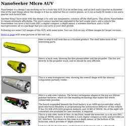 NanoSeeker Micro AUV
