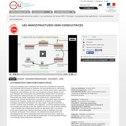 Les nanostructures semi-conductrices