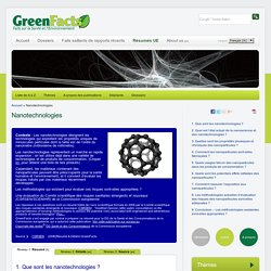 GREENFACTS - Nanotechnologies