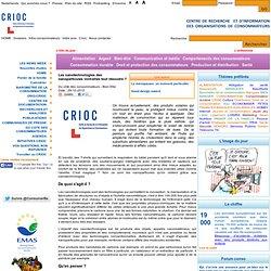 CRIOC 29/10/10 Les nanoparticules vont-elles tout résoudre ?
