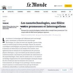 Les nanotechnologies, une filière entre promesses et interrogations