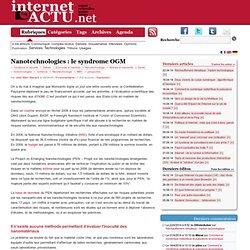 Nanotechnologies : le syndrome OGM