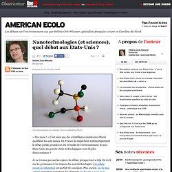 Nanotechnologies (et sciences), quel d bat aux Etats-Unis ?