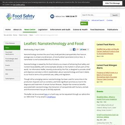 FSAI 08/04/09 Leaflet: Nanotechnology and Food