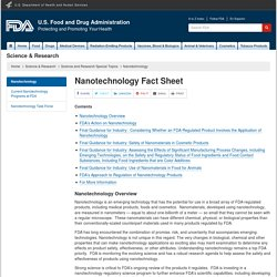 FDA - MAI 2015 - Nanotechnology Fact Sheet