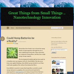 Could Hemp Batteries be a Reality? « Great Things from Small Things .. Nanotechnology Innovation