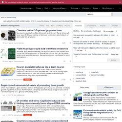 Nanotechnology News - Nanoscience, Nanotechnolgy, Nanotech News