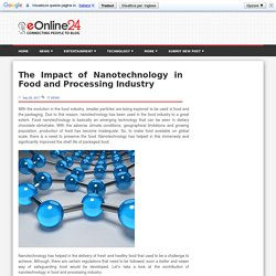 Nanotechnology Impact on Food and Processing Industry